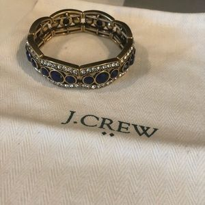 JCrew sapphire and gold bracelet -fashion jewelry
